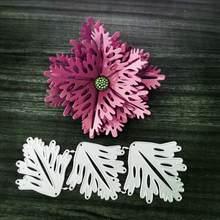 Красивый кленовый лист цветок комбинированное Украшение Металлическая