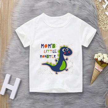 Bawełniane nowe chłopięce t-shirty wiosenne jesienne z długim rękawem topy dziecięce dinozaury bluza dziecięca chłopięce koszule odzież chłopięce ubrania 14T tanie i dobre opinie siddons COTTON CN (pochodzenie) STREETWEAR W stylu rysunkowym REGULAR Z okrągłym kołnierzykiem tops Z KRÓTKIM RĘKAWEM