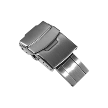 Застежка для часов Seiko из нержавеющей стали 316L, складная предохранительная застежка, 18 мм 20 мм 22 мм