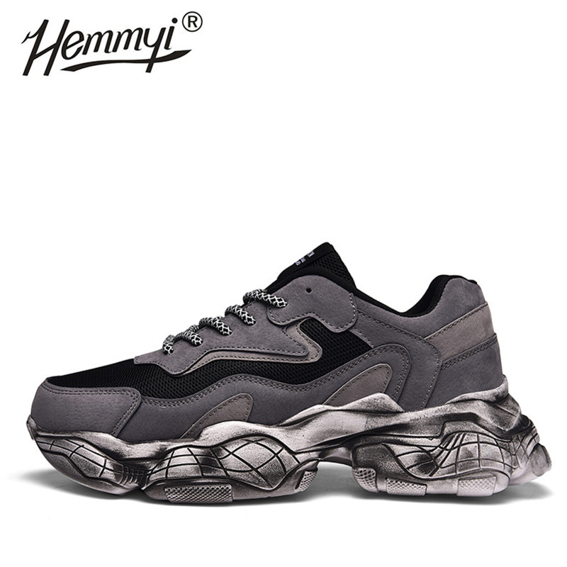 Hemmy 2019 Mens Shoes Breathable Outdoor Non-slip Mesh Male Shoes Sneakers Lace-up Casual Shoes Men Support Dropshipping