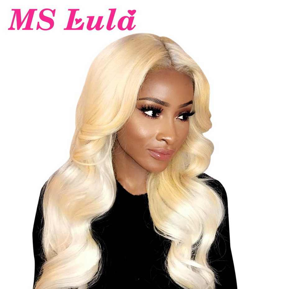 Blonde 360 Lace Frontal Wig Body Wave 8-30 Inch Wig Brazilian 150 Density Remy Pre Plucked 613 Colored Human Hair Wigs For Women