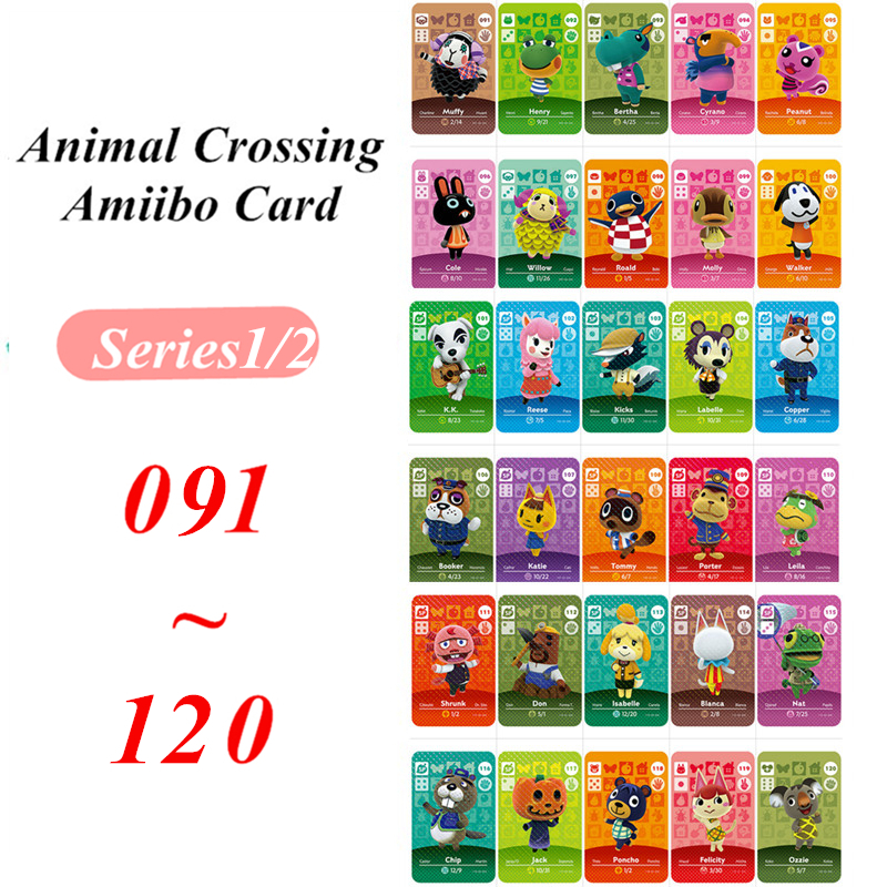 91 To 120 Animal Crossing Card Amiibo NFC Card For Nintendo Switch NS Games Series 1 2  (91 To 120)