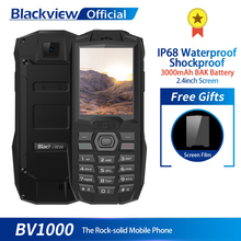 Blackview BV1000 IP68 étanche téléphone portable robuste antichoc 2.4 pouces MTK6261 3000mAh double SIM Mini téléphone portable lampe de poche