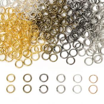 200 sztuk partia Dia 4-10mm hurtownie Gunblack Antique Bronze złoty srebrny rod Jump pierścionki biżuteria dokonywanie ustalenia DIY akcesoria tanie i dobre opinie MINGXUAN CN (pochodzenie) Jump pierścionki i kółka łącznikowe 0 7inch split ring Metal iron A398 Jewelry Findings jump ring