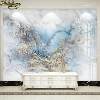 beibehang Custom Blue Marble TV Background Mural Wallpaper for Living Room Bedroom Wall Decor Landscape Painting 3D Wall Papers beibehang custom mural wall paper southeast green banana leaf wallpaper bedroom living room background wall decor wallpaper roll