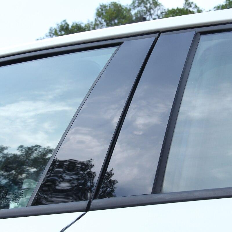 6pcs For Peugeot 308 408 2013 Window Trim Central Column Sticker