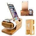 Док-станция с бамбуковым основанием для Apple Watch iWatch iPhone