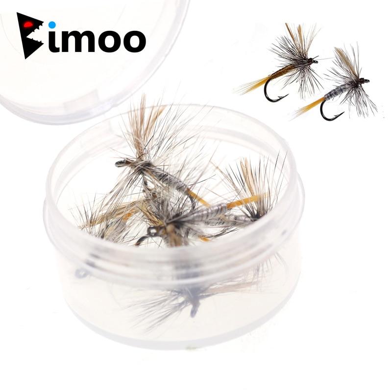 Bimoo 6 шт., коричнево-серая сухая приманка на рыбалку для взрослых