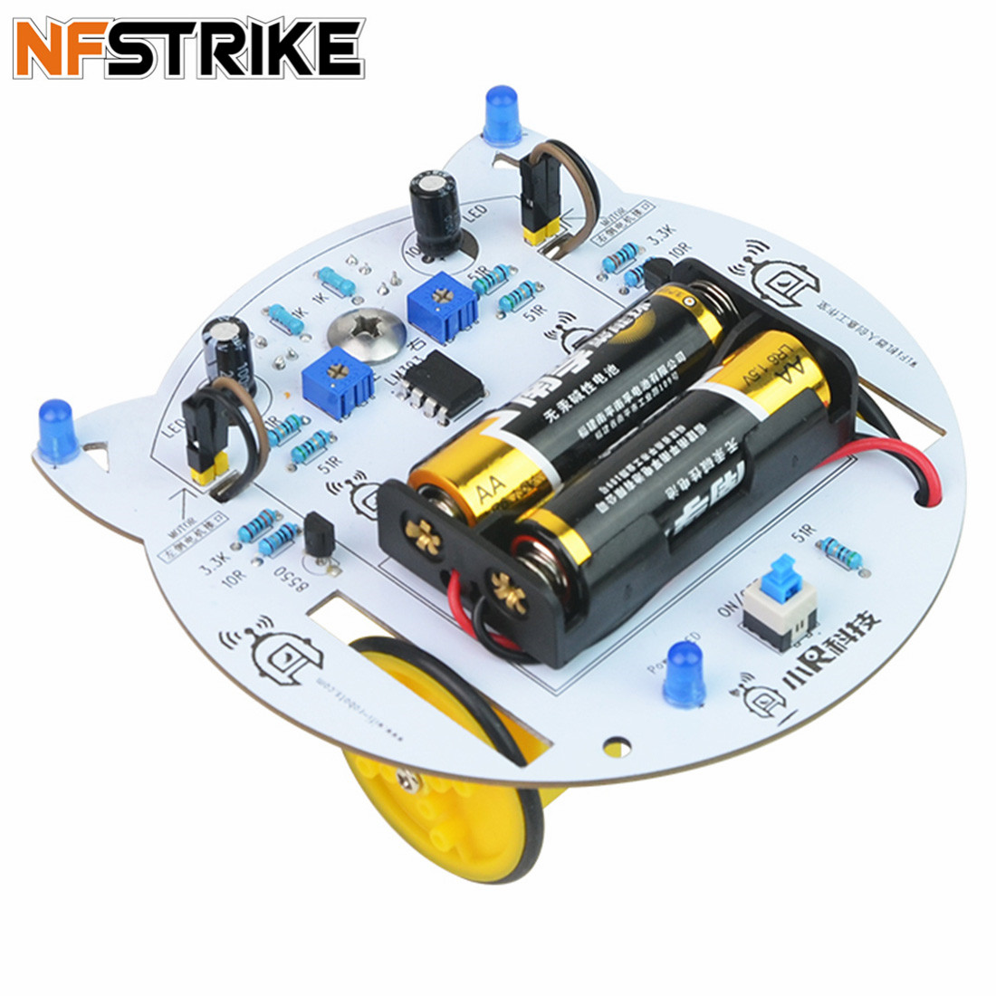 NFSTRIKE Mini Cat DIY Smart RC Robot Car Tracking STEAM Educational Kit Programmable Toys For Kids Boys - Without Battery