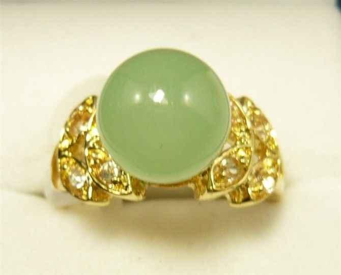 5 สี!ที่สวยงาม 10 มม.สีเขียวหยก GP แหวนขนาด 7,8,9