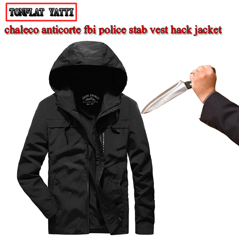 New Autumn Men's Jacket Self-defense Anti-cutting Slash-proof Safety Jacket Fashion Casual City Personal Protective Clothing 3XL