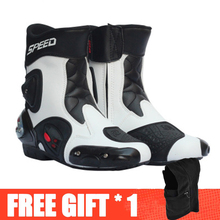 Motorcycle Boots Microfiber-Leather Riding Off-Road Profession Protective-Gear Anticollision