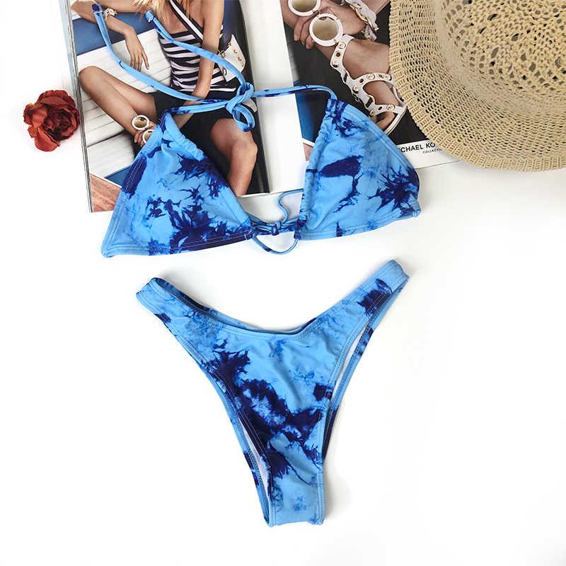 3-Pcs 세트 섹시한 수영복 여성 수영복 레오파드 브래지어 수영복 여성 2020 수영복 여성 비키니 세트