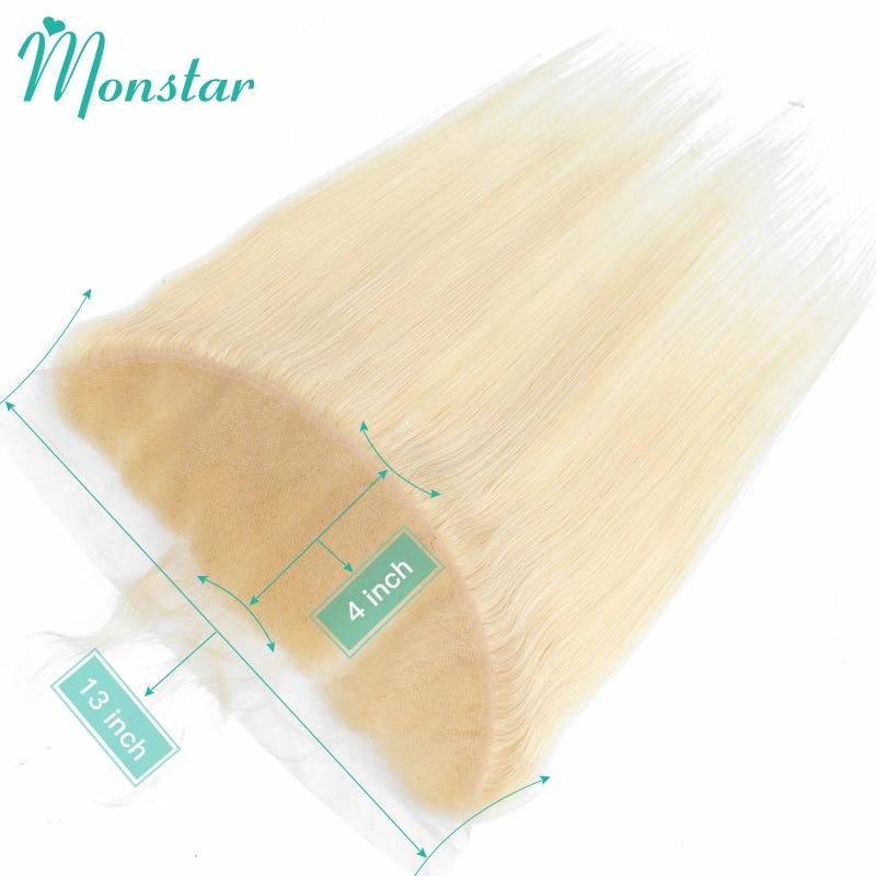 Монозвезда 613 блонд 13x4 кружевная Фронтальная застежка перуанские неповрежденные человеческие волосы прямые швейцарские фронтальные с дет...