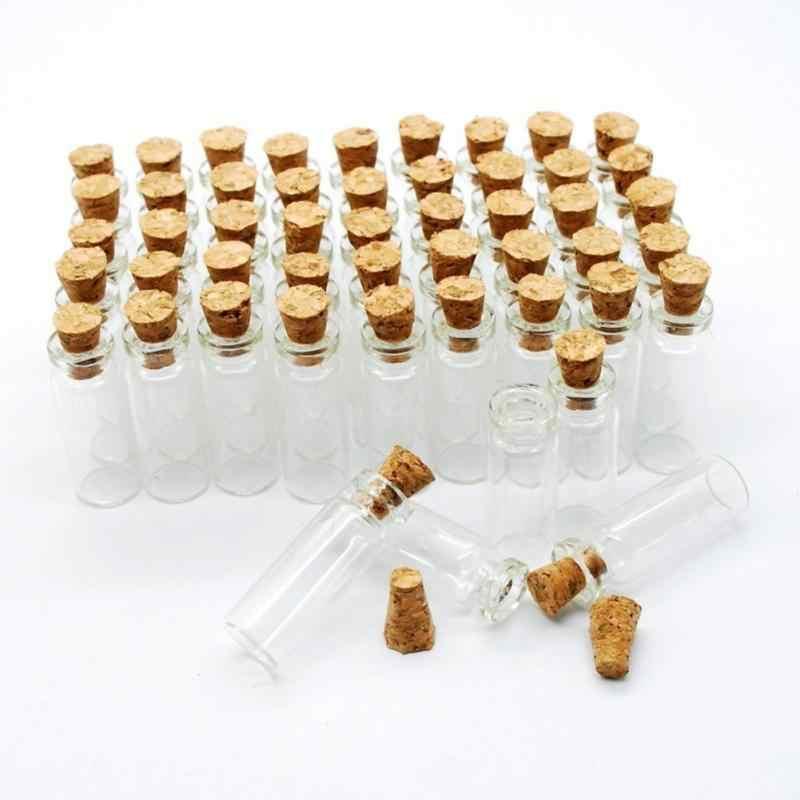 ขวดแก้วขนาดเล็ก Mason Jar ข้อความ Vials ราคาถูกขวดคอนเทนเนอร์ DIY ขนาดเล็กแก้ว MINI ฟรีขวดการจัดส่ง X9D3