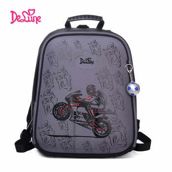 High Quality  Delune 2019 Cartoon Children School Backpack for Boys Orthopedic Backpack Children's School Bag Motorcycle Safe - DISCOUNT ITEM  30% OFF All Category