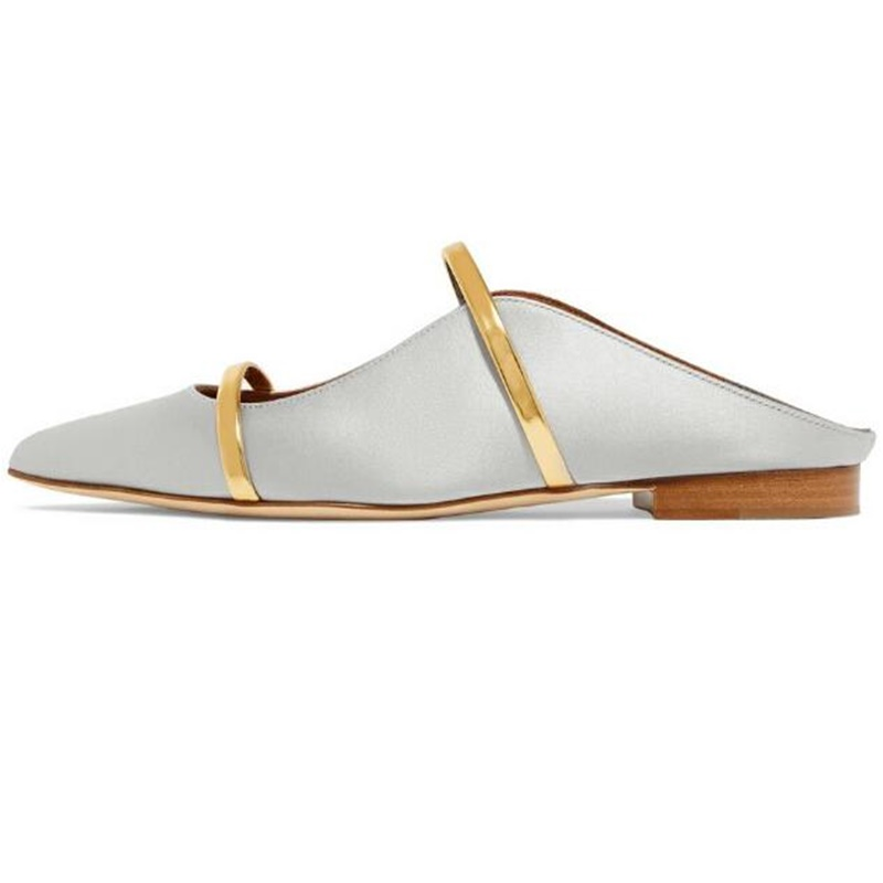 Elegant Women Slip On Low Heel Pointed Toes Casual Pumps New Shoes US Plus Size