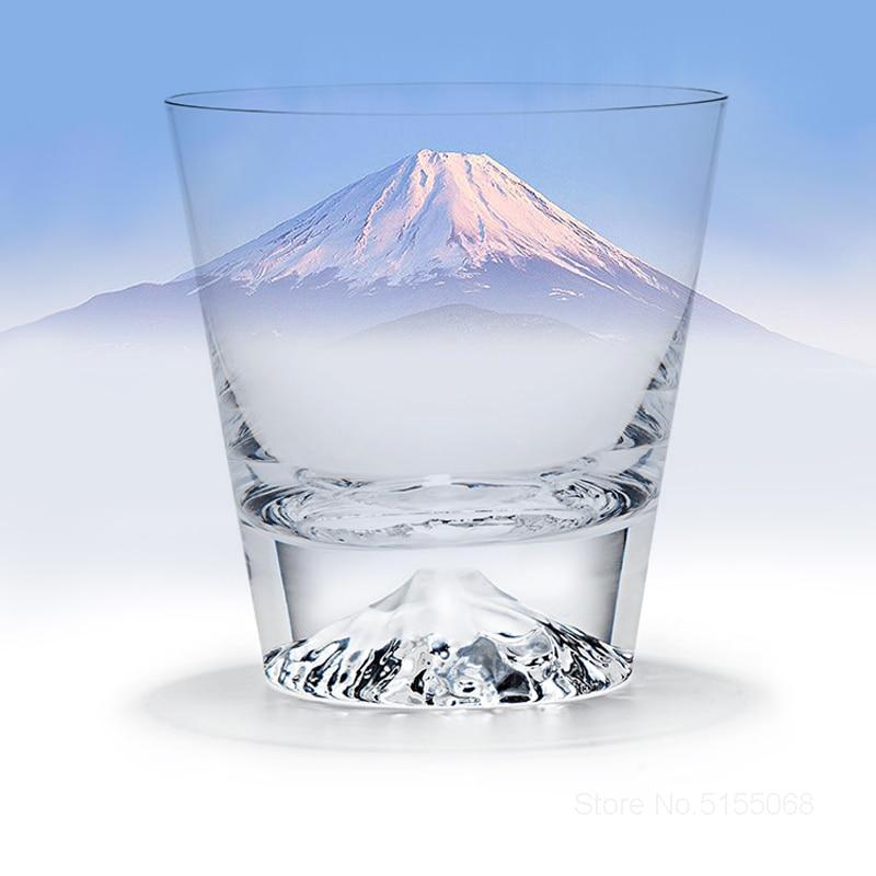Japanese Mount Fuji Crystal Wine Glass Snow Mountain Xo Whisky Rock Glasses Fujiyama Snowberg Whiskey Tumbler Water Cup Gift Box