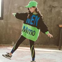 2020 New Girls Clothing Sets Kids Plus Velvet Sweatshirts + Striped Leggings Suits Spring Winter Children Baby Girl Clothes 8 12