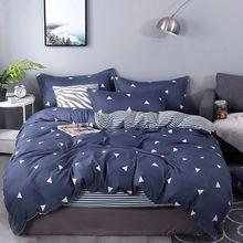 цена на Bedding Set 4Pcs/Set Bed Textile Products 16 Style Bed Set Cartoon Bed Sheet Pillowcase & Duvet Cover Print Cotton Multicolor