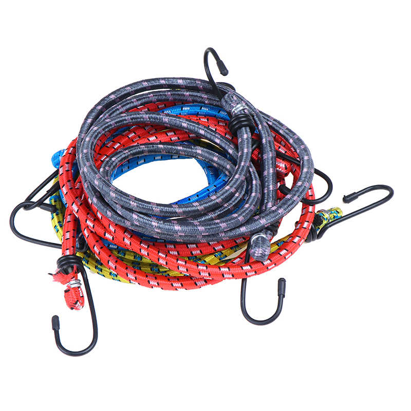 JCBIZ 2pcs 680mm Luggage Rope Rubber Band Plastic Rope Bike Luggage Fixed Strap Rope Bungee Cords Elastic for Fixing Camp Tarpaulin or Hanging Clothes Tent