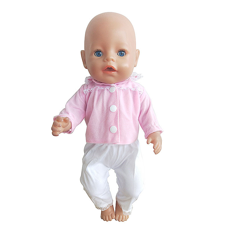 Fashion Surit Wear For 43cm Zapf Baby Doll 17 Inch Born Babies Dolls Clothes And Accessories
