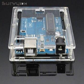 цена на Uno R3 Case Enclosure Transparent Acrylic Box Clear Cover Compatible For Arduino UNO R3 Board Module