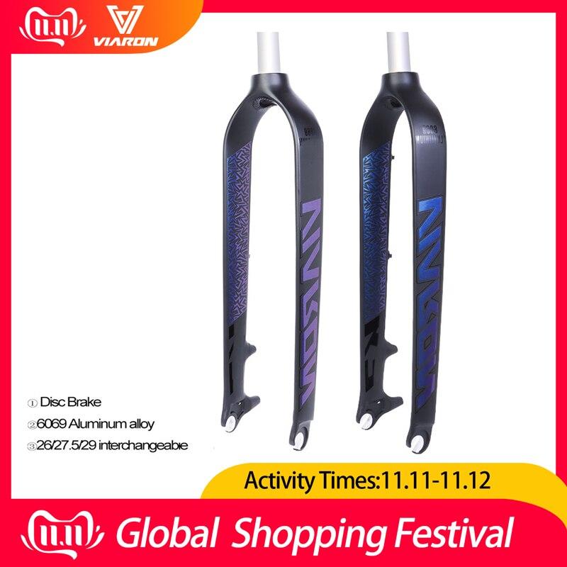 MTB Bike Forks 26//27.5//29 Aluminum Fork Disc Brake Straight Tube Headsets Carbon