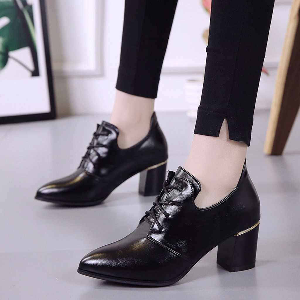 สีดำสิทธิบัตรหนังข้อเท้ารองเท้าผู้หญิงลูกไม้ Elegant ข้อเท้ารองเท้าหนารองเท้าฤดูใบไม้ร่วงรองเท้า Bota Feminina