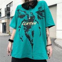 Повседневная летняя одежда в стиле хип хоп женская футболка