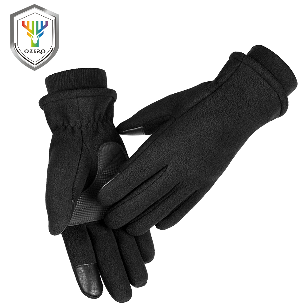 OZERO  Winter Gloves Waterproof Winter -20F Touch Screen Snowboard Motorcycle Deerskin Riding Ski Windproof Snow Glove 9035