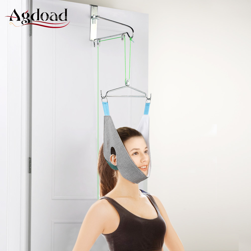 Hanging Neck Traction Belt Posture Corrector Support Neck Stretching Device Pain Relief Chiropractic Cervical Traction Hammock(China)