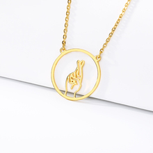 2019 New Necklace Concentric Fun Round Pattern Stainless Steel Gold Jewelry Charm Couple Birthday Gift