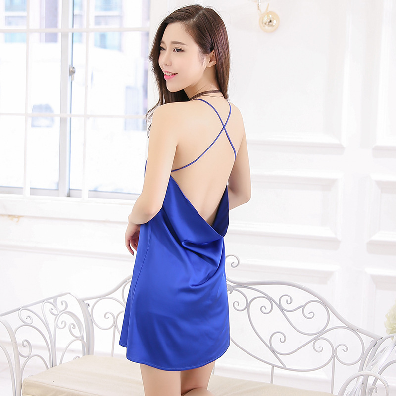 Sexy Backless Slip Nightdress Real Silk Handfeel Base Skirt Top Grade Viscose Tracksuit A Generation Of Fat Wholesale