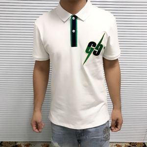 Image 2 - 2019 list haft męskie koszulka POLO na co dzień wzór Streetwear z krótkim rękawem proste bawełniane 100% projektant luksusowe mężczyźni odzież