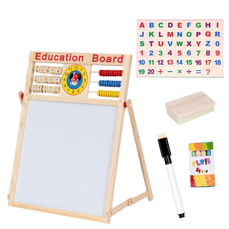 quebra cabeca de madeira brinquedo de aprendizagem multi funcao de desenho placa de escrita de madeira