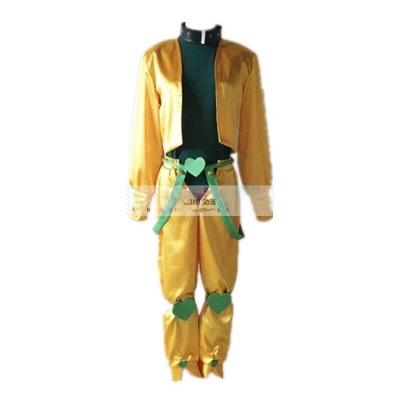 Anime JoJo's Bizarre Adventure Movie Dio Brando Cosplay Costume Yellow Full Set Halloween Christmas Carnaval Costume