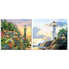 Lighthouse 5D Diamond Painting Kits Full Drill Wall Decoration Rhinestone Embroidery Paintings