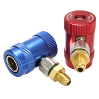 2pcs 68mm 30mm Brass Metal Durable R1234yf Quick Connector Refrigerant Air Conditioning Adapter For Most Cars Truck