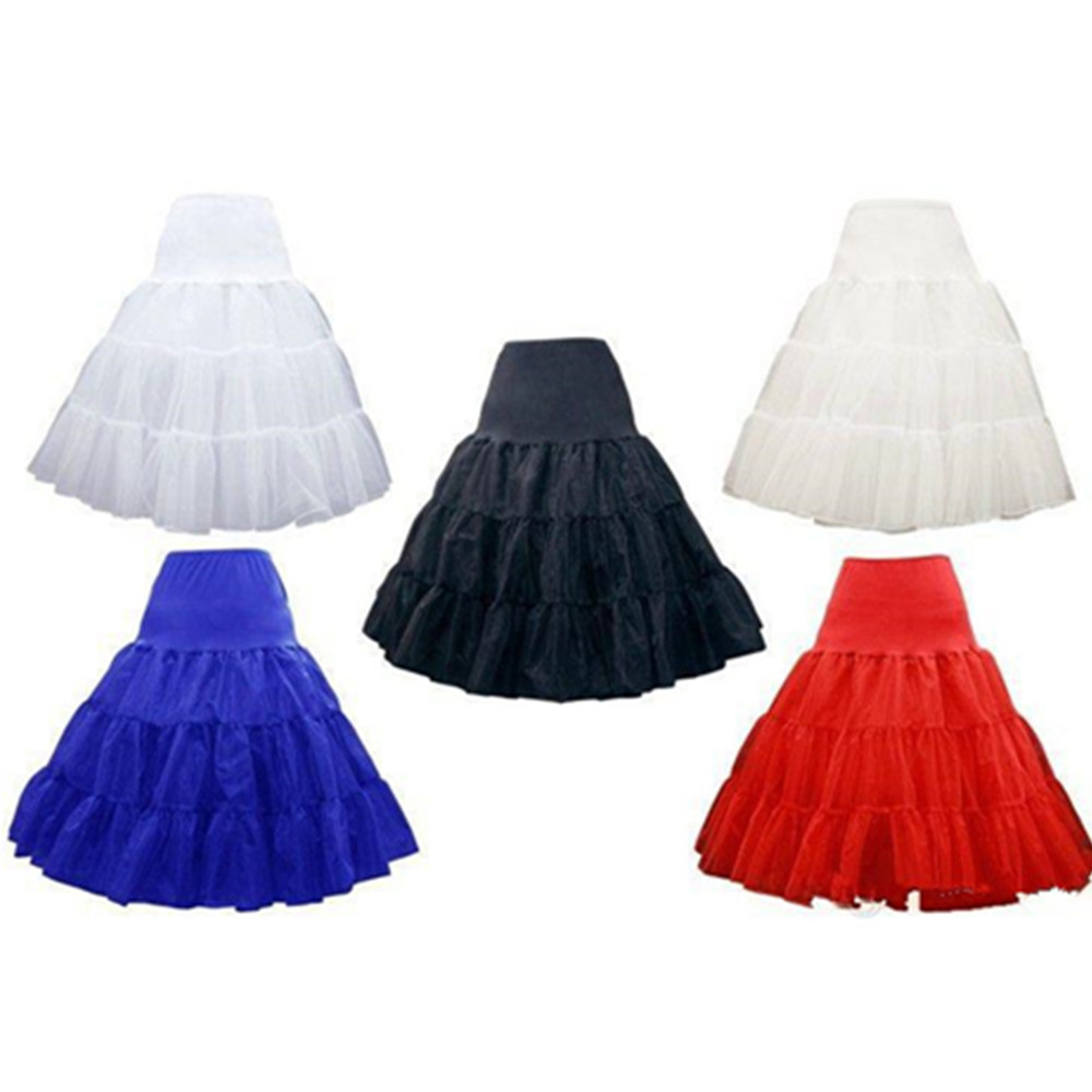 Best Sale Wedding Party White Colorful New Cheap Short Red Petticoats Multicolor Petticoat Crinoline Underskirt Hoopless Slip
