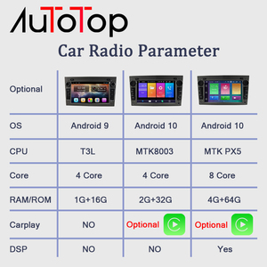 """Image 2 - AUTOTOP 7 """"Radio 2 Din Android 10.0 Car Multimedia Player per Opel,Opel Astra H,G,J,Opel Corsa D,Vectra C PX5 4G 64G DSP Carplay"""