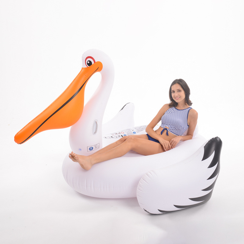 Inflatable Pool Floats Rafts For Swimming Gigantic Pelican Ride-On Toucan Swan Pool Mattress Beach Summer Water Toys Life Buoy