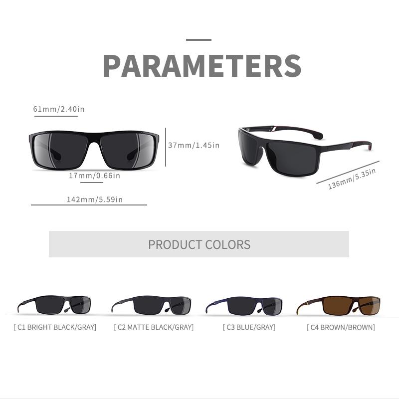 Aofly marca design quadrado polarizado óculos de
