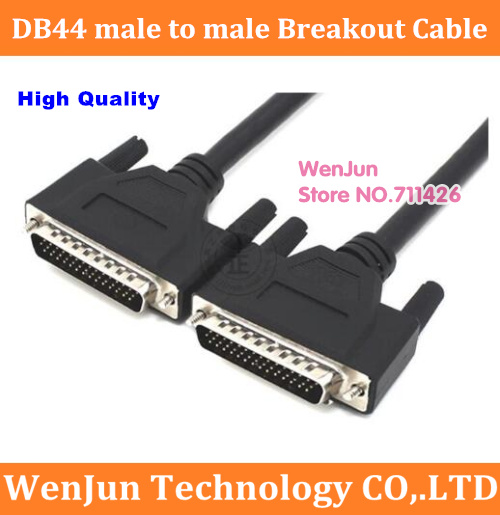 Hot Sale High Quality <font><b>DB44</b></font> D-SUB DR-44 44 pins male to male Signal Terminal Breakout <font><b>Connector</b></font> Cable 0.5M/1M/1.5M/3M/5M image