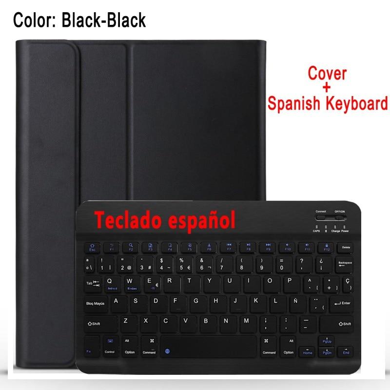 Spanish Keyboard Gray Case Keyboard For Apple iPad 10 2 2019 7 7th 8th Gen Generation A2197 A2200 A2198