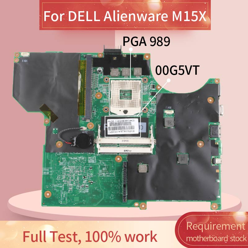 CN-00G5VT 00G5VT Laptop motherboard For DELL Alienware M15X Notebook Mainboard PM55 40GAB3900-A400 image