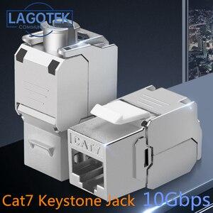 Image 1 - RJ45 Keystone, cat 6a/7, sans outils, Module en alliage de Zinc, blindé, adaptateur pour réseau, 10 go