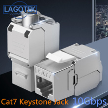 Toolless RJ45 Keystone Cat7 Cat6A Экранированный FTP модуль из цинкового сплава 10 Гб сетевой Keystone Jack разъем адаптер cat7 rj45