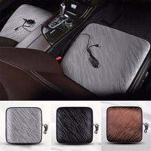 12V Heated Car Seat Cushion Cover Office Thickening USB Heating Warmer Chair Pad Car Electric Heated Seat Winter Heating Pad(China)