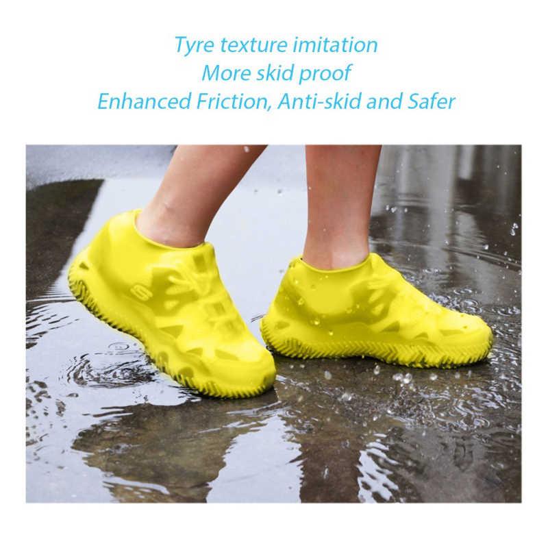 Su geçirmez yağmur geçirmez silikon ayakkabı koruyucu kullanımlık yıkanabilir aşınmaya dayanıklı ayakkabı silikon kapakları yağmur çizmeleri
